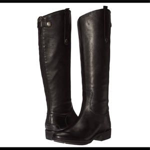Sam Edelman Penny Black Leather Tall Riding Boots